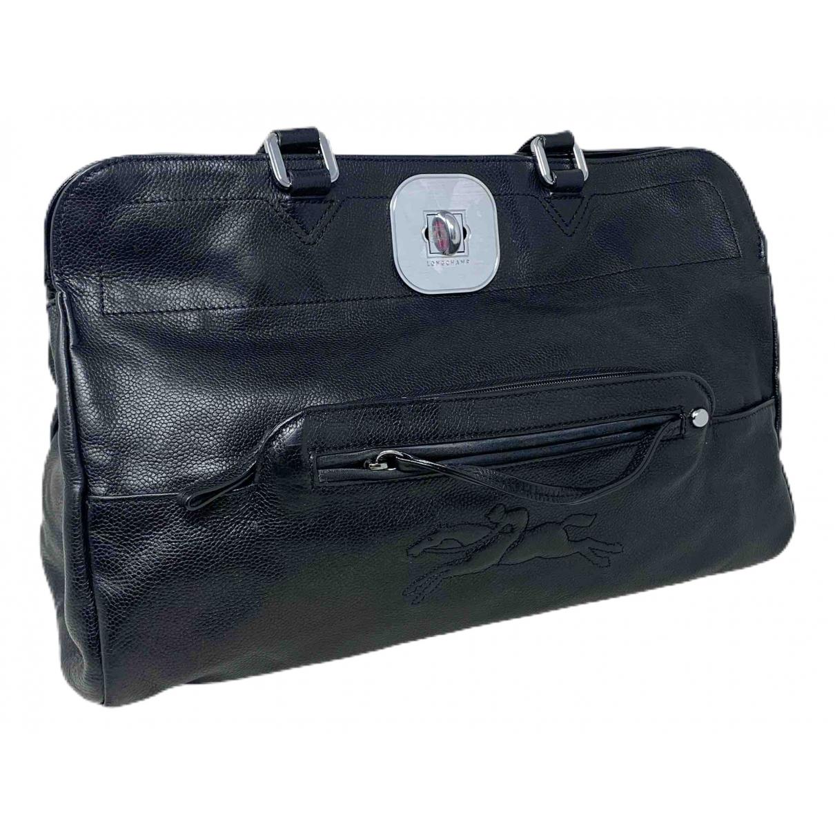 Longchamp - Sac a main Gatsby pour femme en cuir - noir