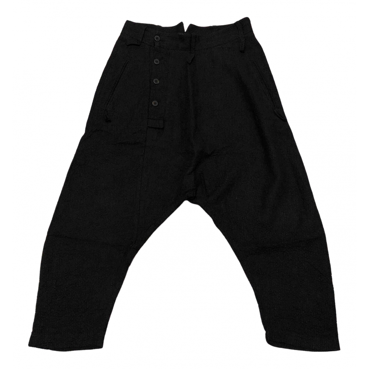Lost & Found Ria Dunn N Black Wool Trousers for Men XS International