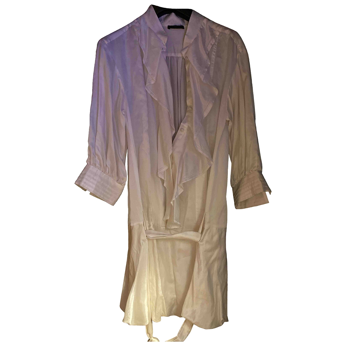 Pinko - Robe   pour femme en soie - blanc
