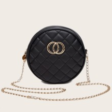 Quilted Chain Circle Bag