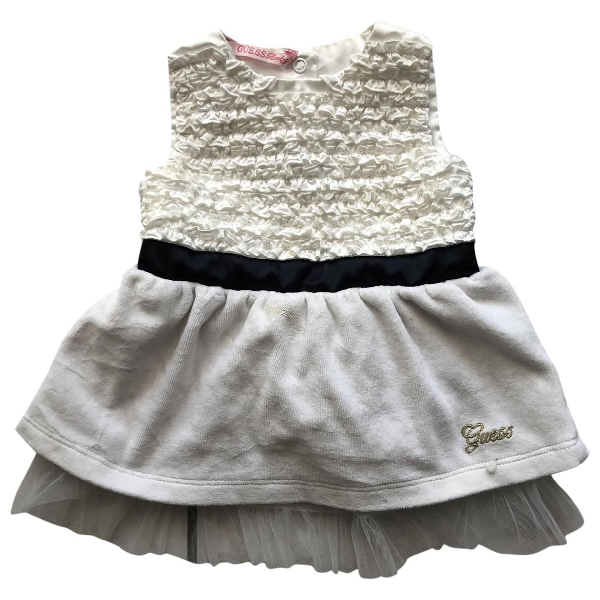 Guess - Robe    pour enfant - blanc