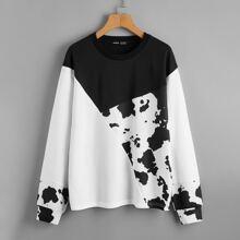 Two Tone Drop Shoulder Sweatshirt
