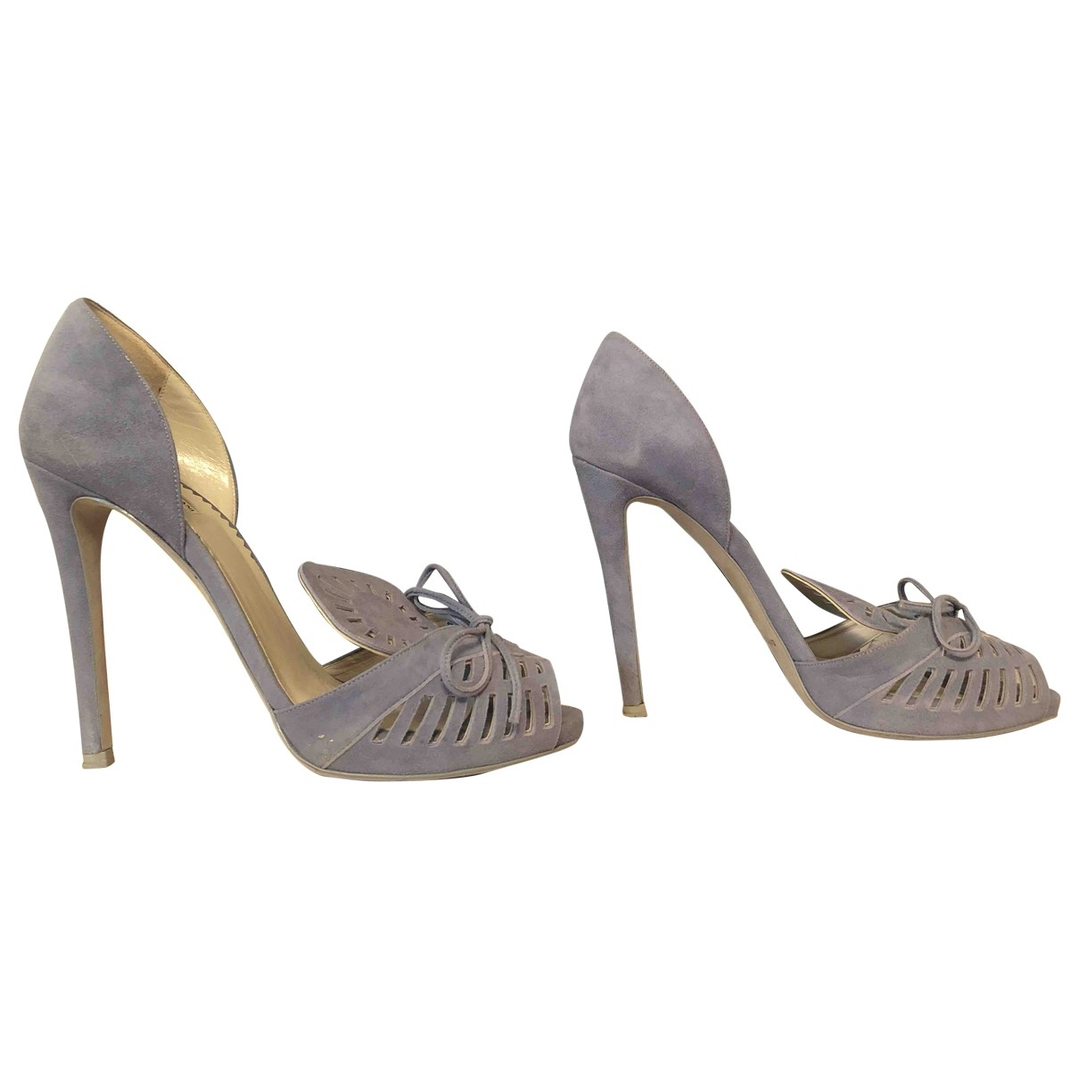 Emporio Armani \N Blue Suede Heels for Women 37.5 EU