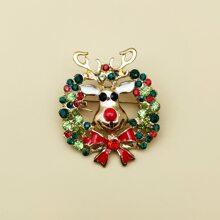 Broche con diseño de guirnalda de Navidad