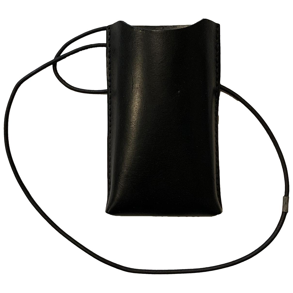 Cos - Petite maroquinerie   pour femme en cuir - noir