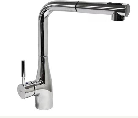 Morena Collection 500210-SNI Single Handle Kitchen Faucet with 1.75 GPM Flow Rate  360 Degree Spout Rotation  Dual Function Pull-Out Spray and Brass