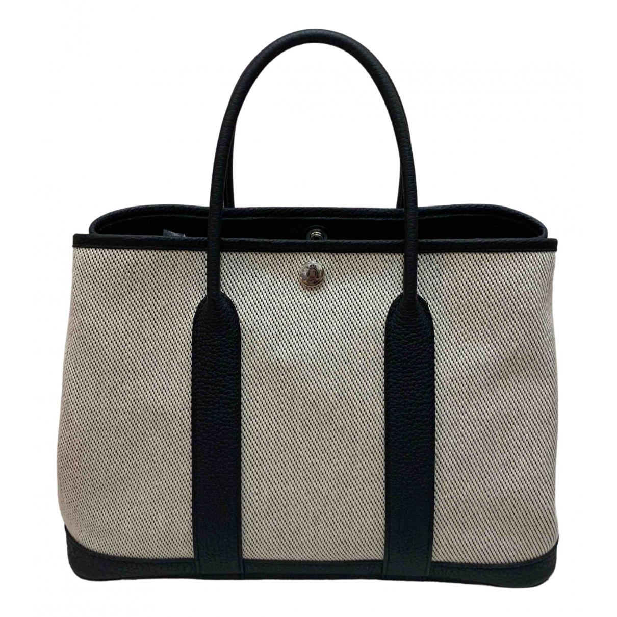 Hermès Garden Party Grey Cloth handbag for Women \N