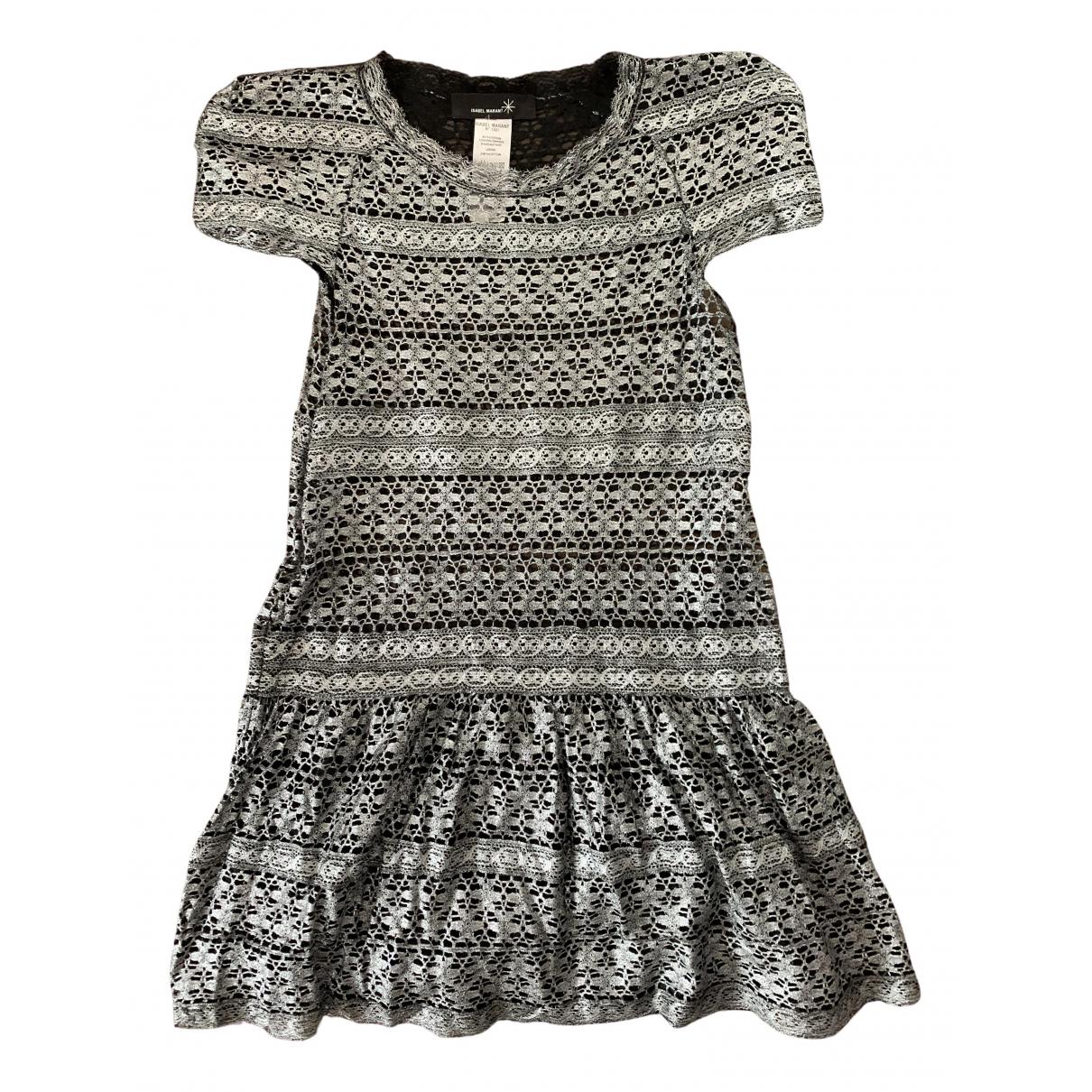 Isabel Marant \N Kleid in  Silber Spitze