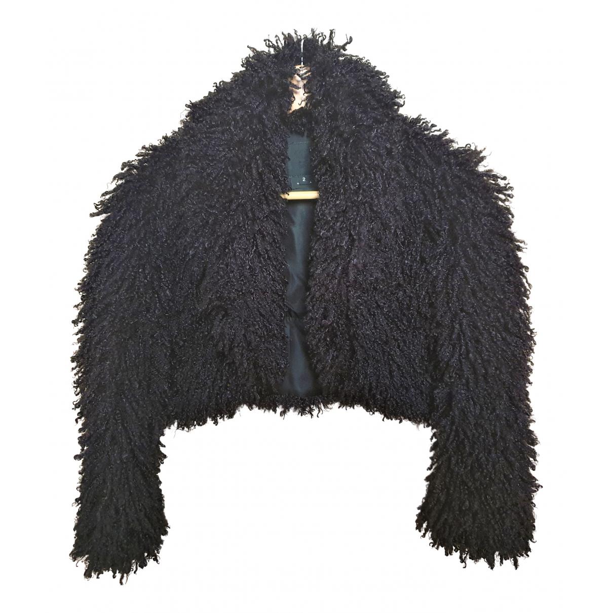 Anna Sui N Black Faux fur jacket for Women 2 US