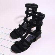 Open Toe Gladiator Heeled Sandals