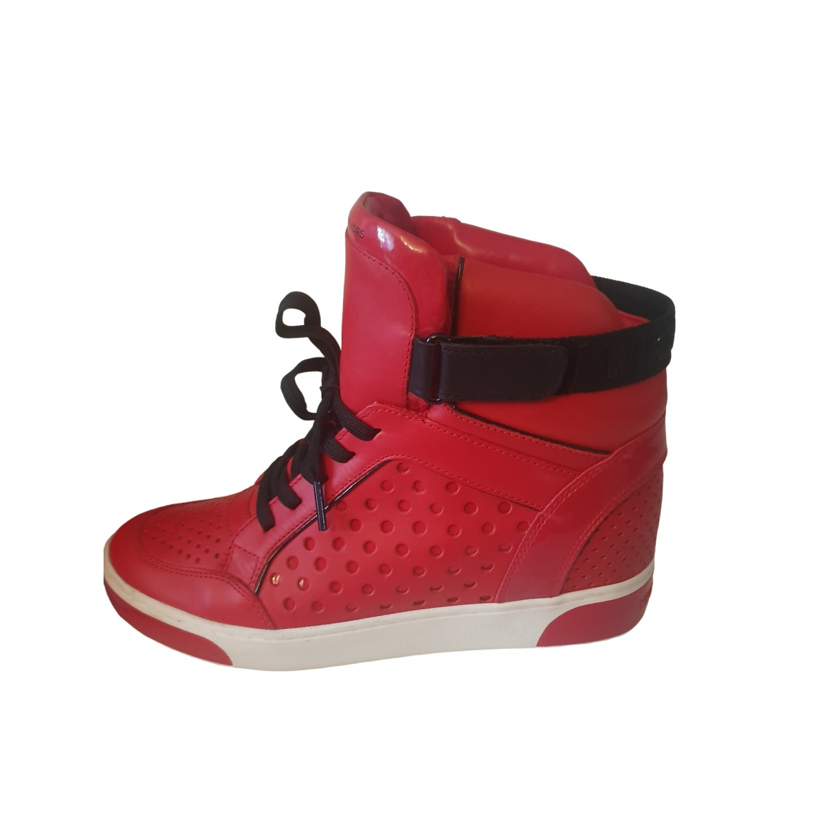 Michael Kors - Baskets   pour femme en cuir - rouge