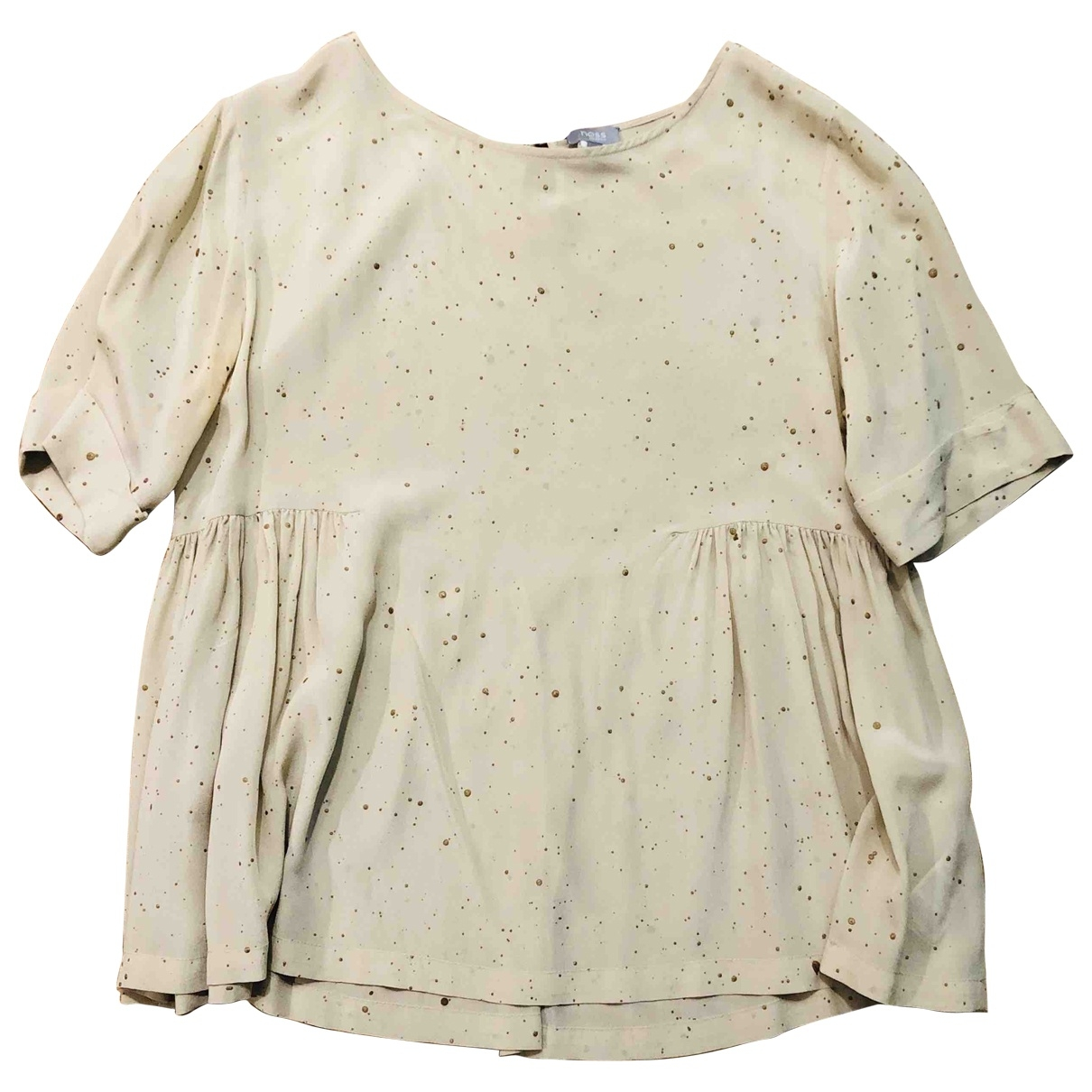 Hoss Intropia \N Beige Silk  top for Women 36 FR