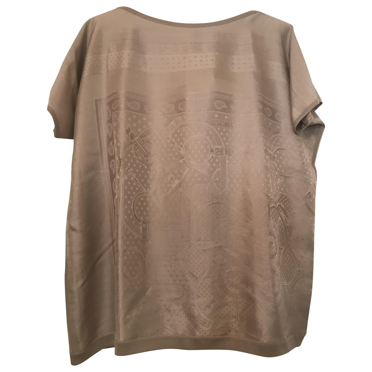 Hermes \N Pullover in  Beige Seide