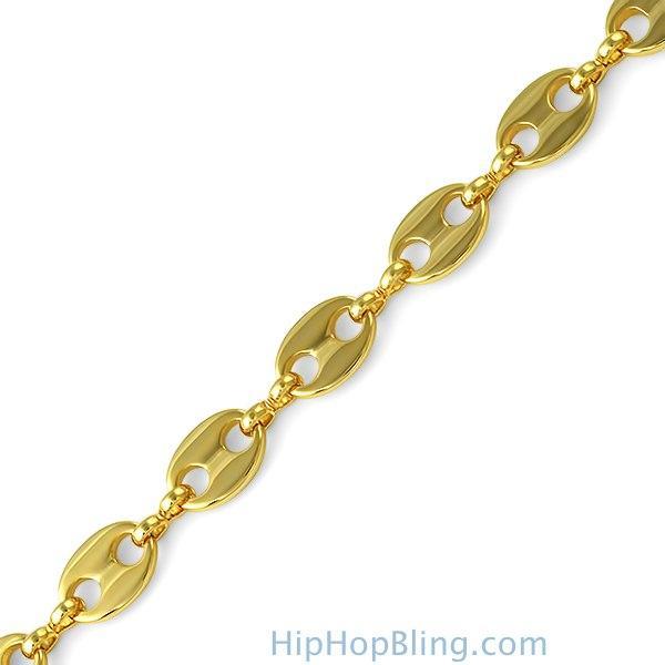 Designer Link Gold Plated Bracelet