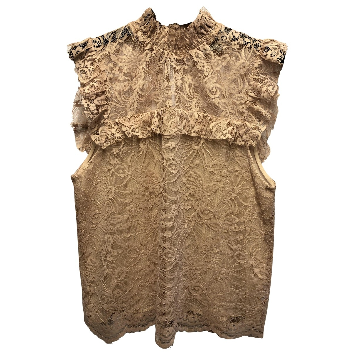 Non Signe / Unsigned \N Top in  Beige Polyester