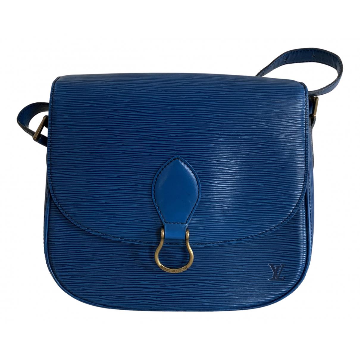 Louis Vuitton Saint Cloud vintage Blue Leather handbag for Women N