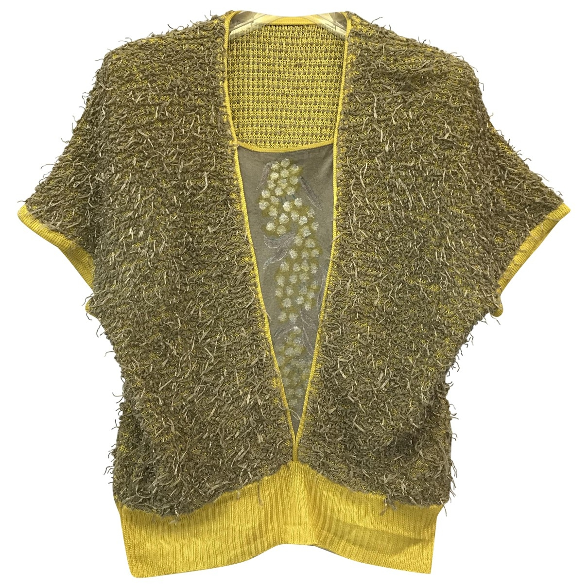 Non Signé / Unsigned \N Yellow Cotton Knitwear for Women M International