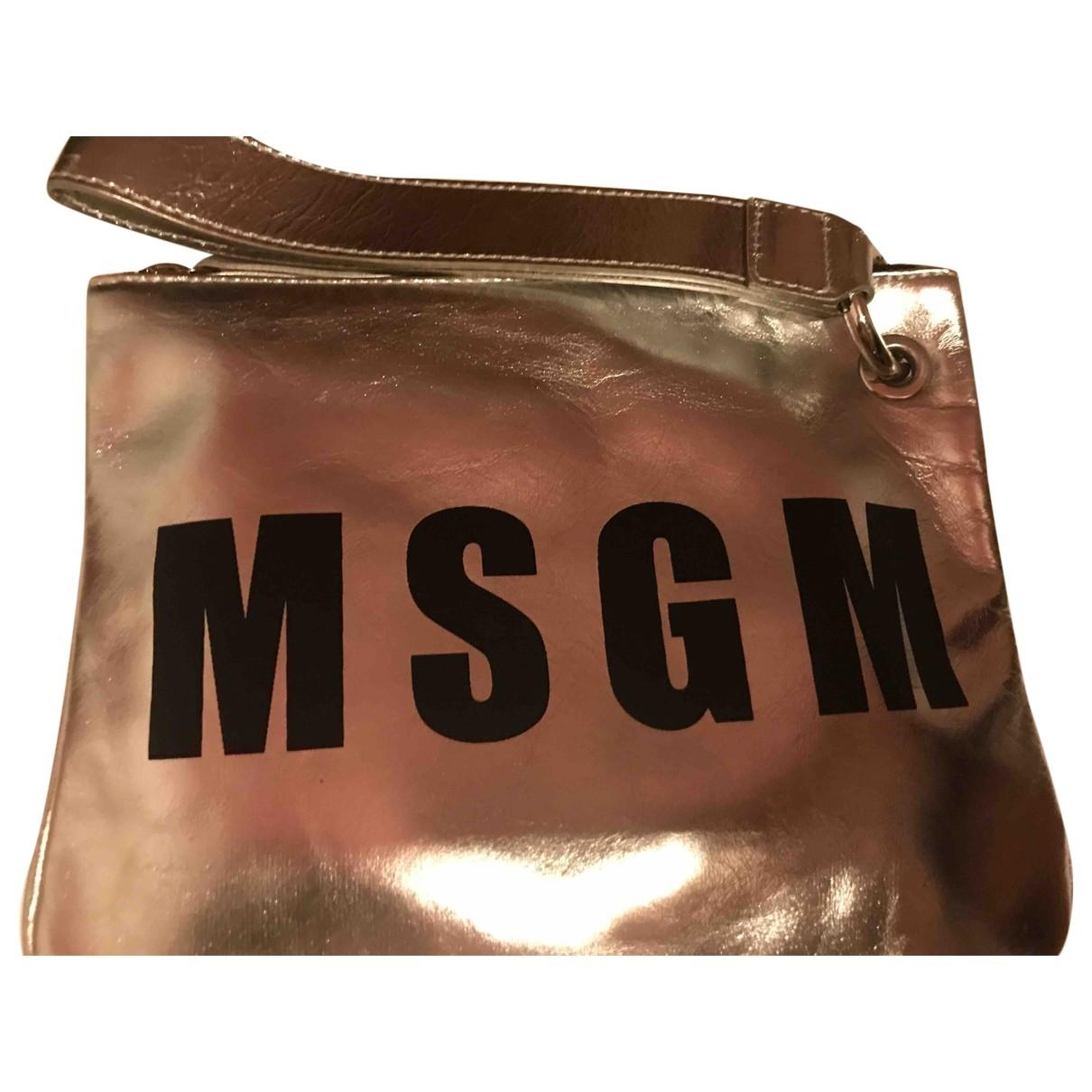 Msgm \N Handtasche in  Silber Leder