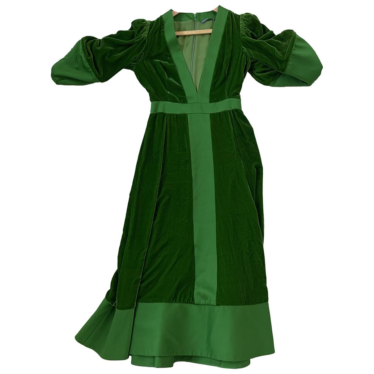 Alexander Mcqueen - Robe   pour femme en velours - vert