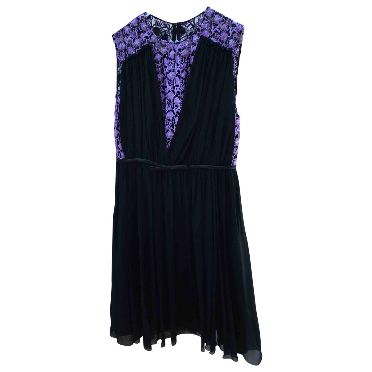 Giambattista Valli \N Purple Silk dress for Women 44 IT