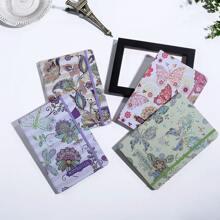 1 Stueck Zufaelliges Notizbuch mit Schmetterling Muster