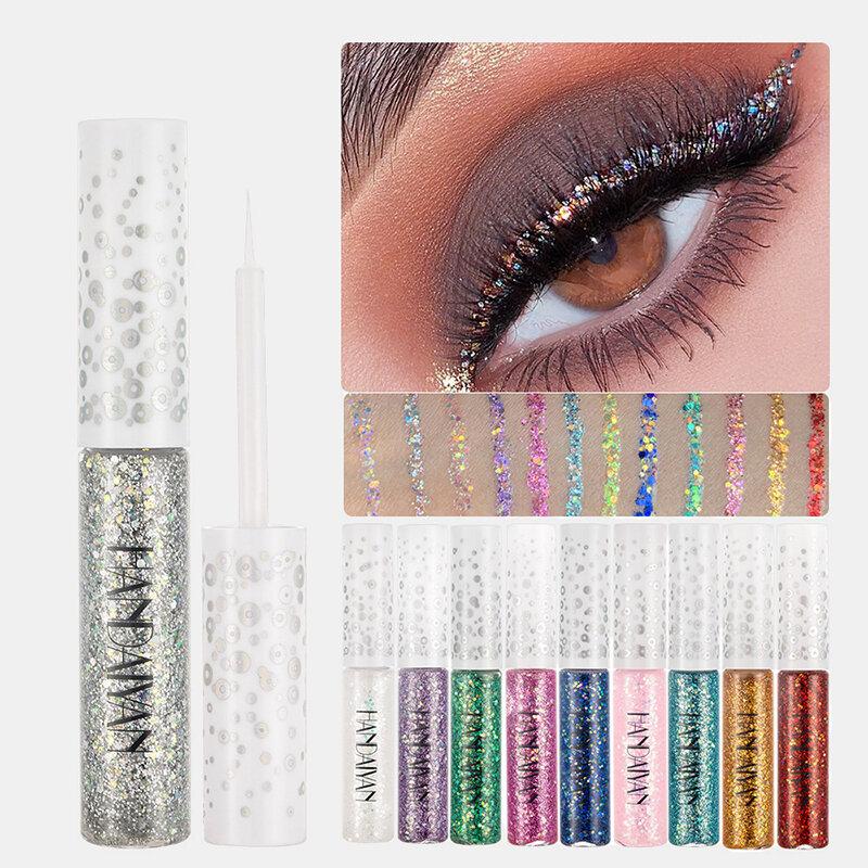 12 Color Dreamy Shiny Eyeliner Liquid Jelly Bright Sequin WaterproofEyeliner Eyeshadow