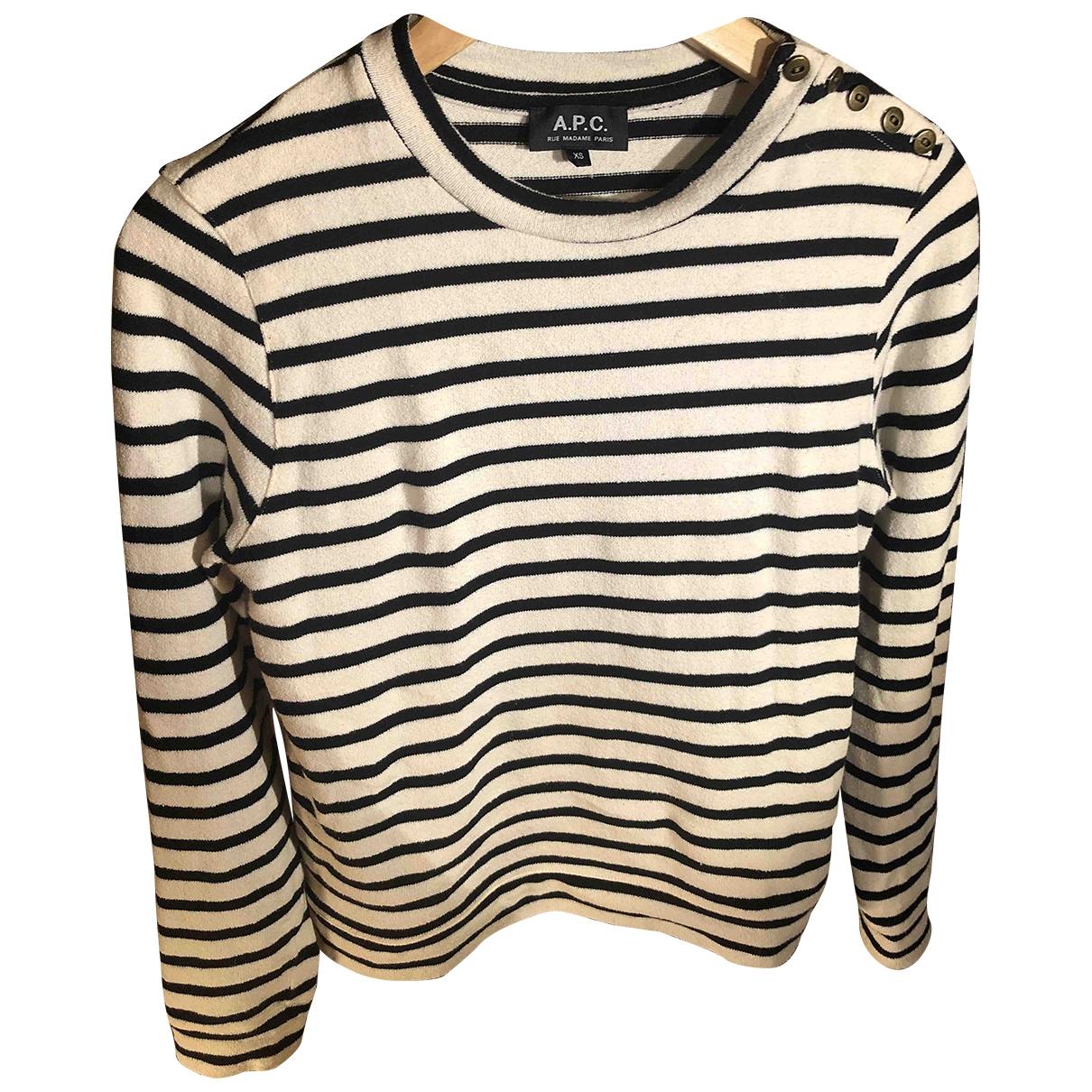 Apc \N Pullover in  Beige Baumwolle