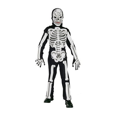 Child Skeleton Costume Costume, Large , Multiple Colors