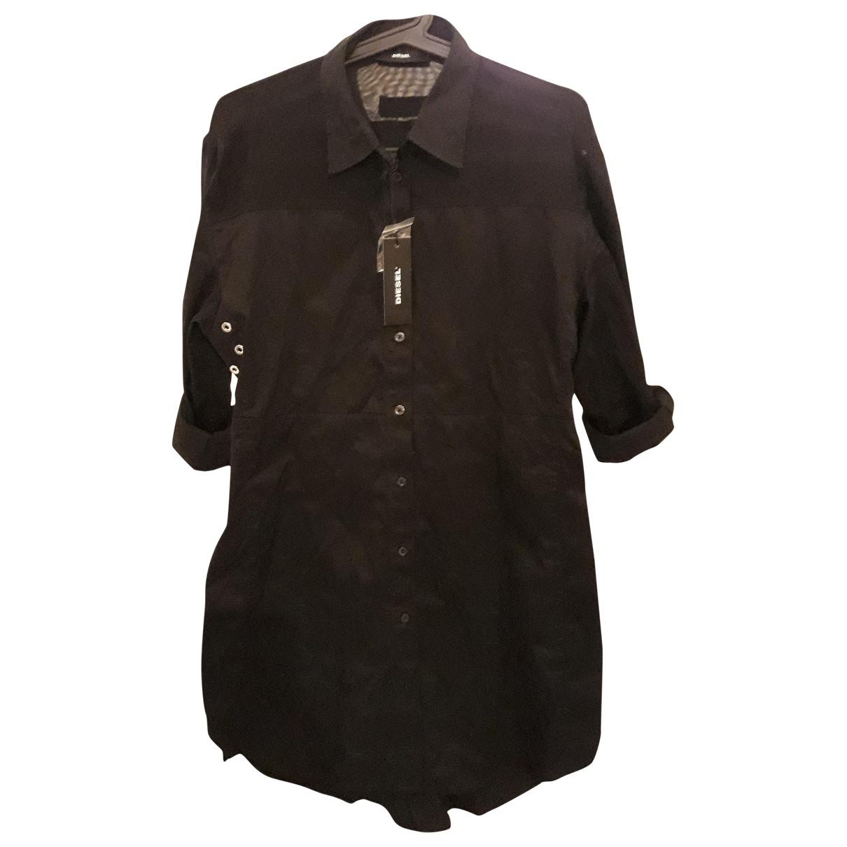 Diesel \N Kleid in  Schwarz Baumwolle