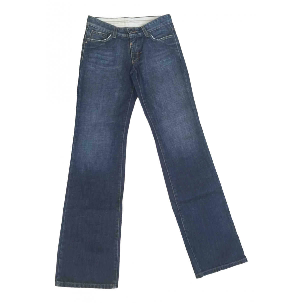 Sport Max \N Blue Cotton Jeans for Women 40 FR