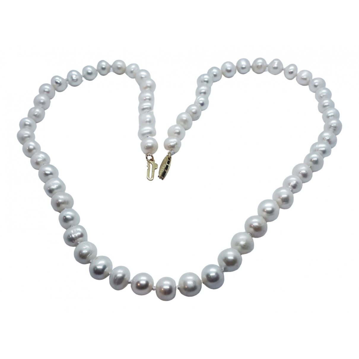 Non Signé / Unsigned Nacre White Pearls necklace for Women \N