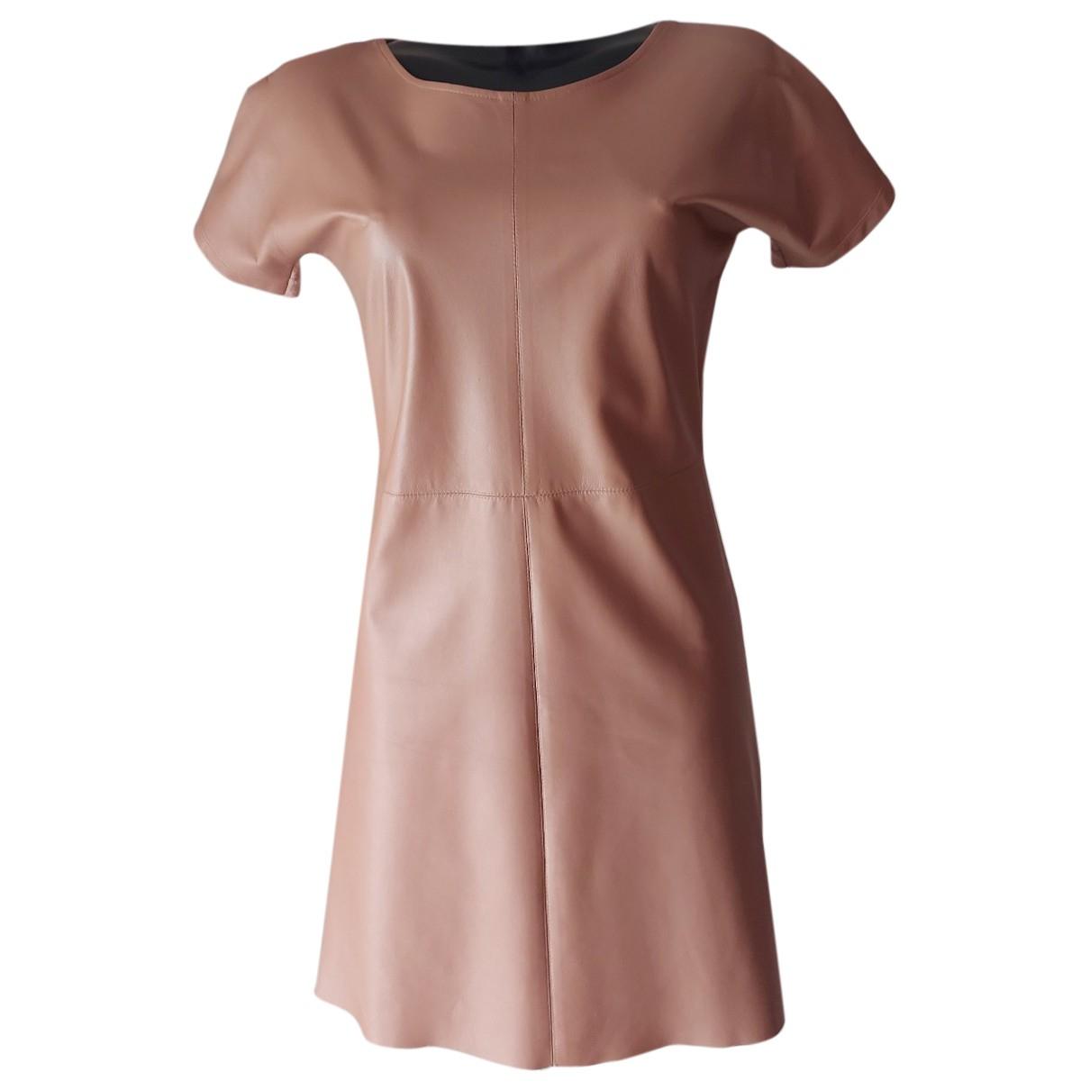 Gucci - Robe   pour femme en cuir - rose