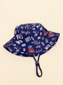 Toddler Kids Letter Graphic Bucket Hat