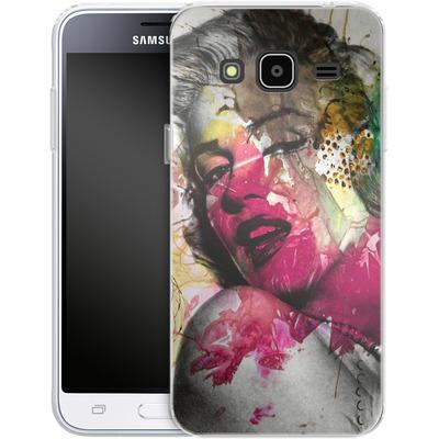 Samsung Galaxy J3 (2016) Silikon Handyhuelle - Woman Aquarelle von Mark Ashkenazi