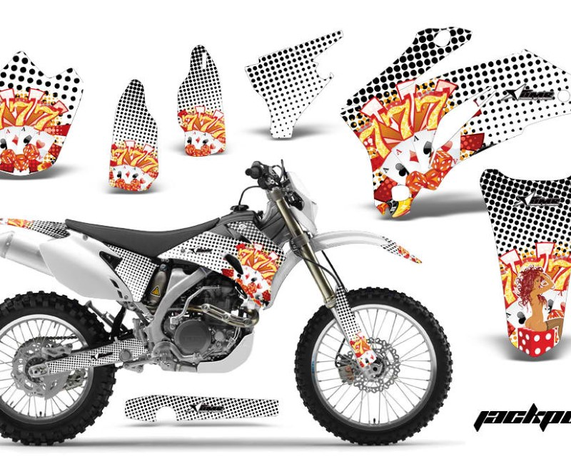 AMR Racing Dirt Bike Graphics Kit Decal Wrap For Yamaha WR250F 2007-2014 WR450F 2007-2011áJACKPOT WHITE