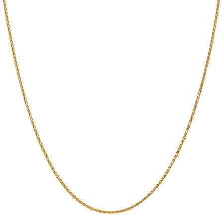 14K Gold Solid Wheat Chain Necklace, One Size , No Color Family