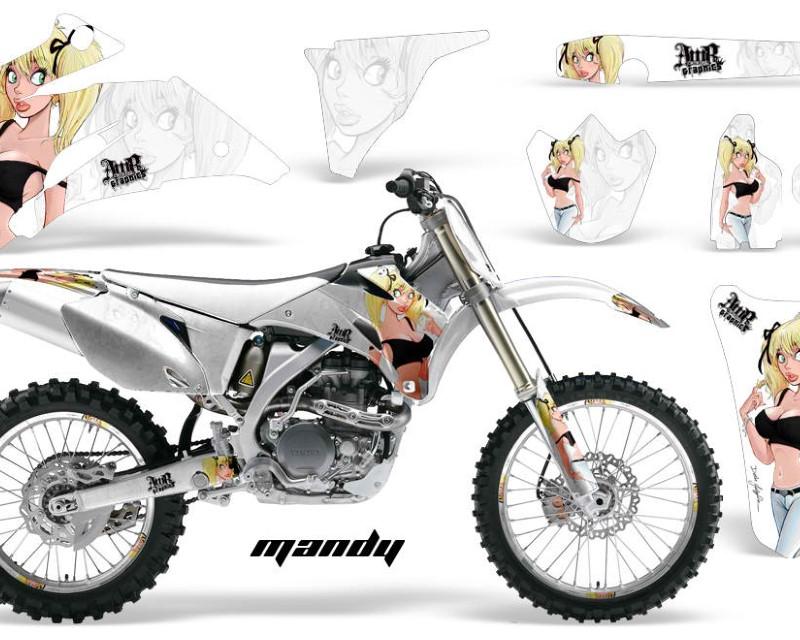 AMR Racing Graphics MX-NP-YAM-YZ250F-YZ450F-06-09-MY K W Kit Decal Wrap + # Plates For Yamaha YZ250F YZ450F 2006-2009áMANDY BLACK WHITE