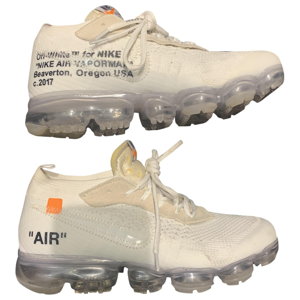Nike X Off-white - Baskets Vapormax pour homme en toile - blanc