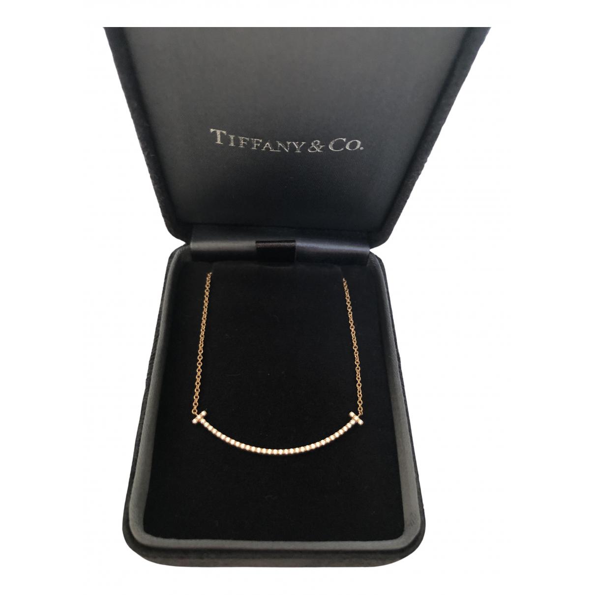 Tiffany & Co - Collier Tiffany T pour femme en or rose - dore
