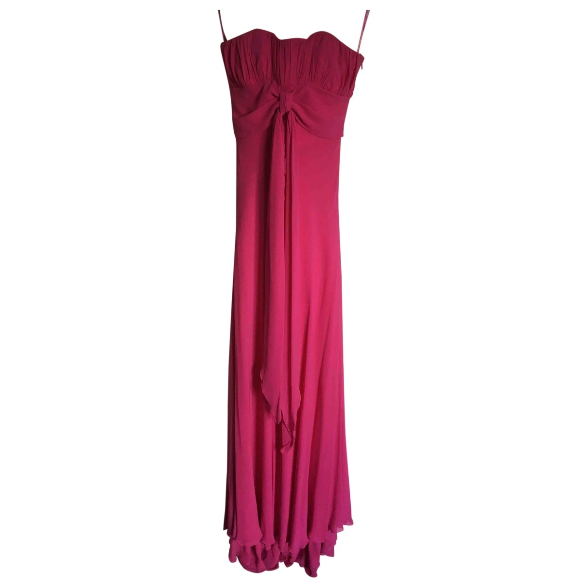 Non Signé / Unsigned \N Pink Silk dress for Women 12 UK