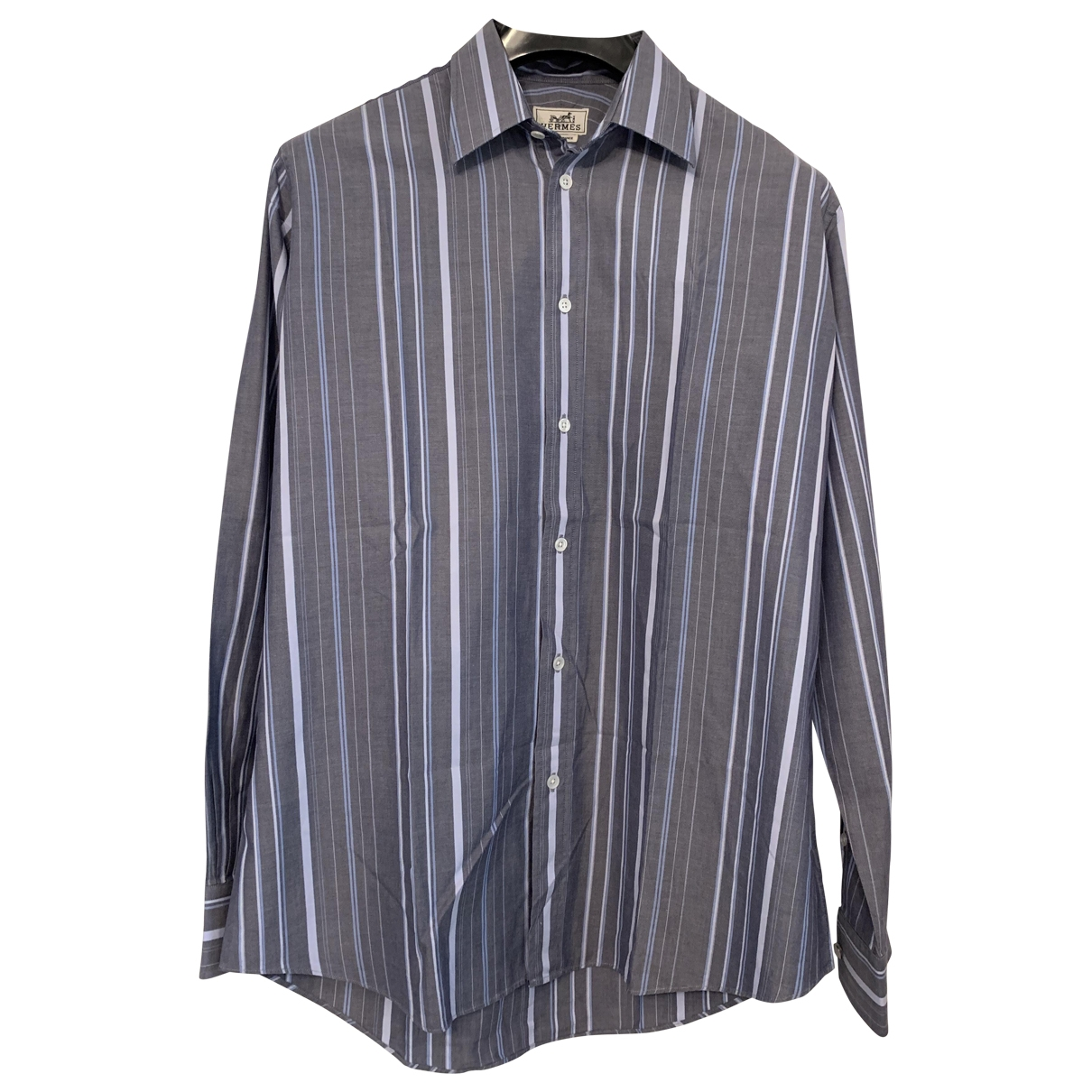 Hermès \N Grey Cotton Shirts for Men 40 EU (tour de cou / collar)