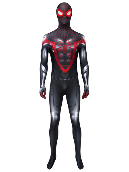 Milanoo Marvel Comics Marvel Spiderman Into The Spider Verse Miles Morales Cosplay Costume Zentai