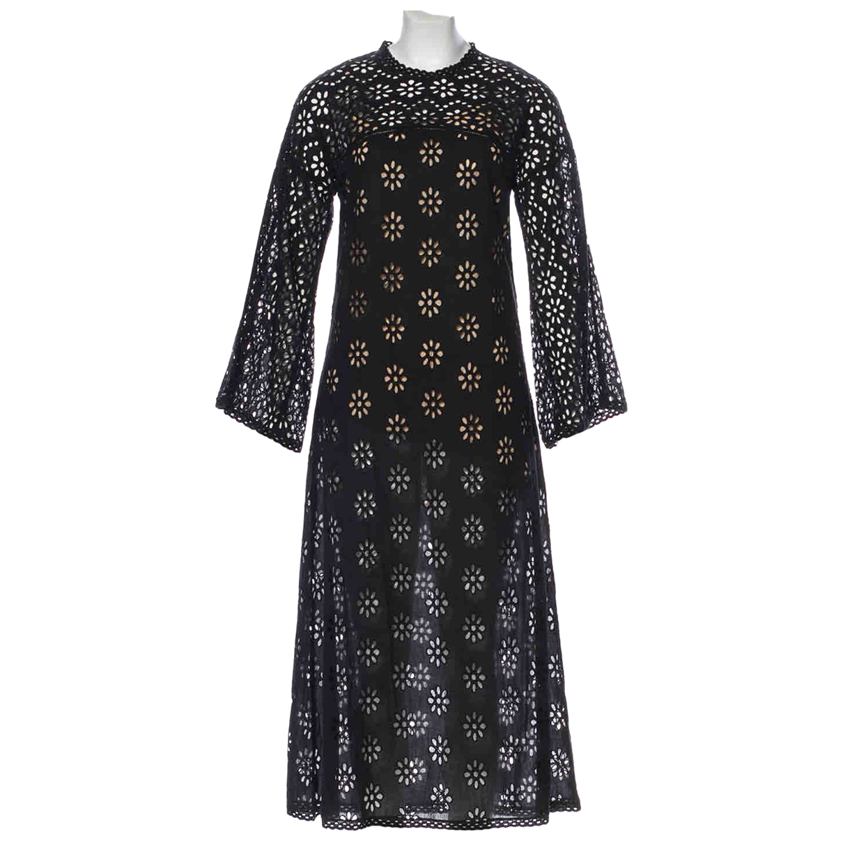Doen \N Kleid in  Schwarz Baumwolle