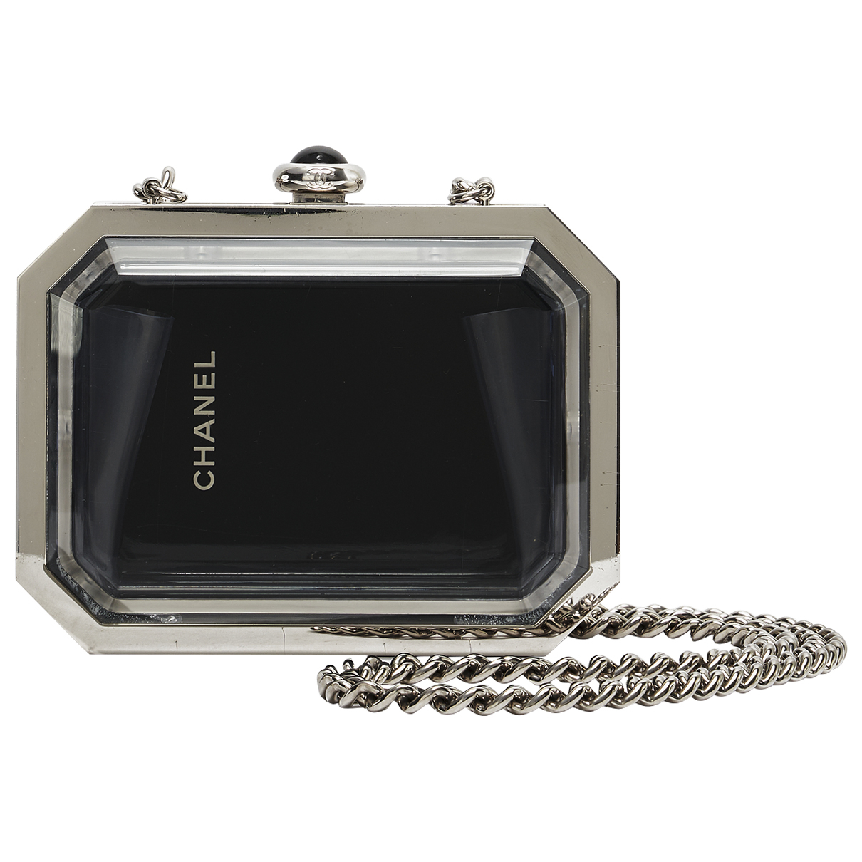 Chanel \N Clutch in  Schwarz Metall