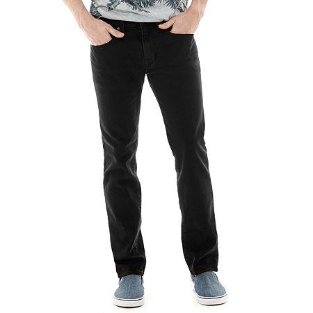 Arizona Men's Flex Skinny Jeans, 38 32, Black