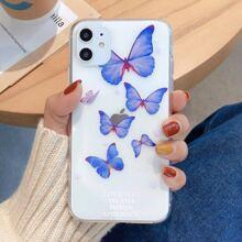 Transparente iPhone Huelle mit Schmetterling Muster