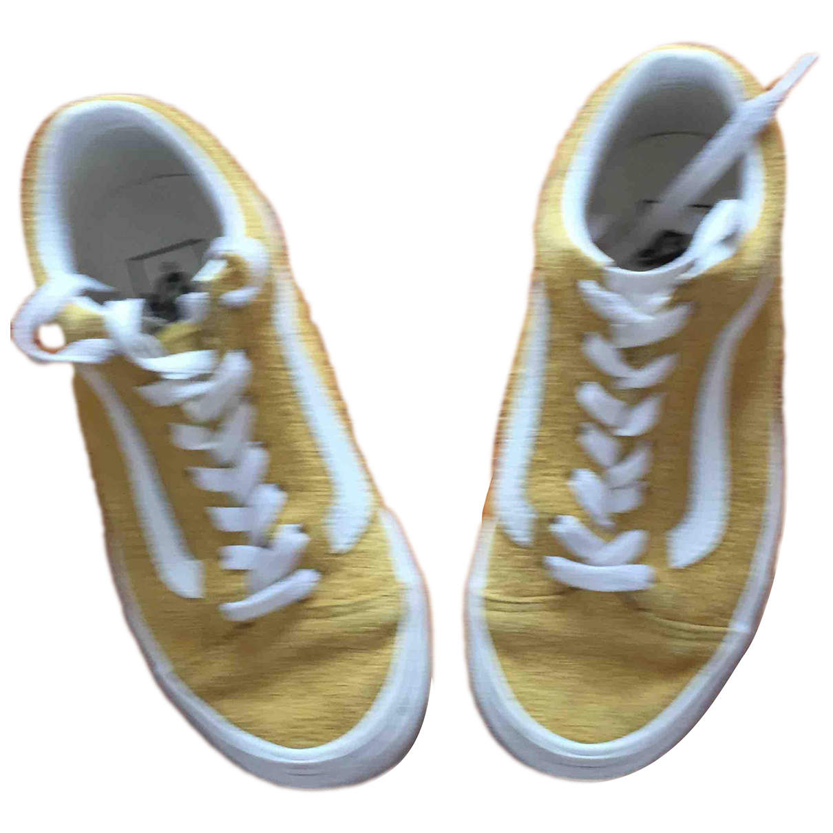 Vans - Baskets   pour enfant en suede - jaune