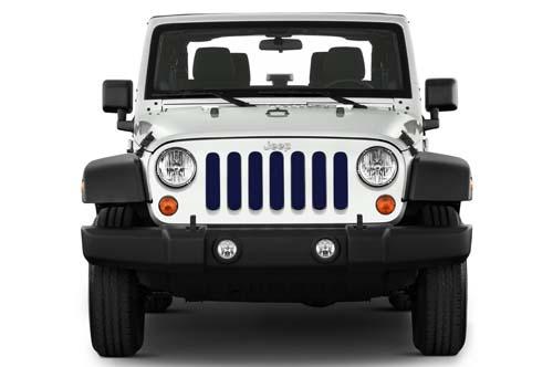 Jeep Wrangler Grill Inserts 07-18 JK True Blue Under The Sun Inserts INSRT-SLDTRUBLU-JK