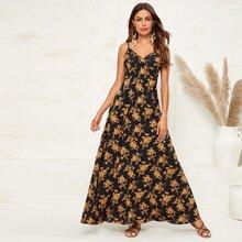 Vestido de tirante maxi con estampado floral