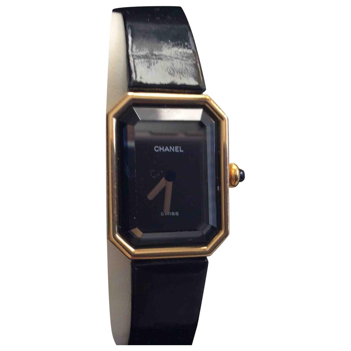 Chanel Premiere Uhr in  Schwarz Gelbgold